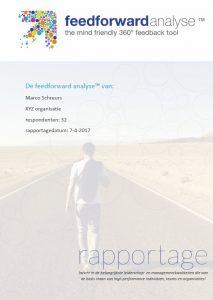 feedforward rapportage - voorbeeld xyz