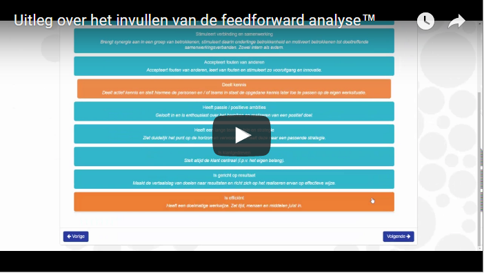 uitlegvideo invullen feedforward analyse